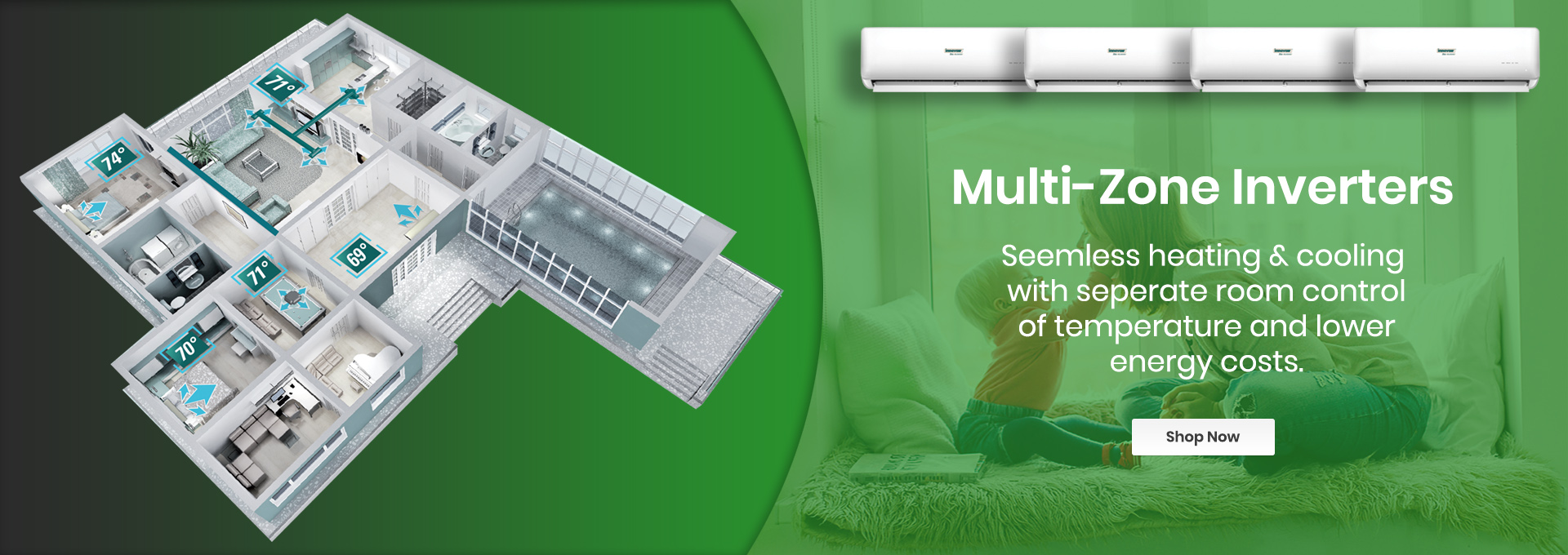 Multi Zone Ductless Mini Split Systems